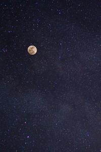 Full Moon And Stars Galaxy