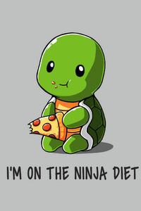 640x1136 Funny Ninja On Diet