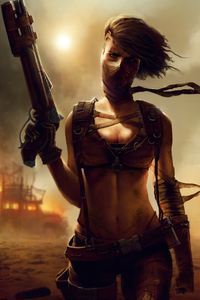 1440x2960 Fury Road Warrior Girl 4k