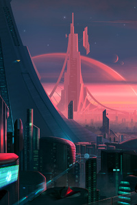 320x480 Future Pink City
