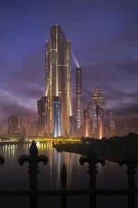 1440x2960 Future Town