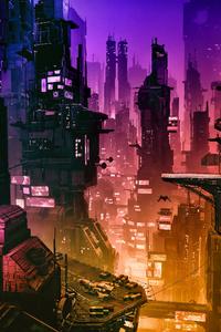 1280x2120 Futuristic City 4k