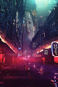 Futuristic City Science Fiction Concept Art Digital Art