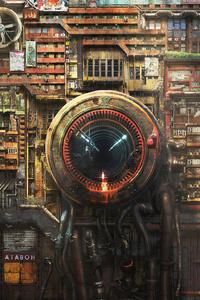 Futuristic Cyberpunk Digital Art
