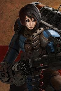 Futuristic Girl Weapon Woman Warrior