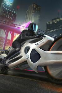 320x568 Futuristic Motorcyle 4k