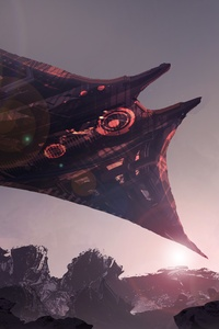 Futuristic Spaceship Science Fiction Digital Art