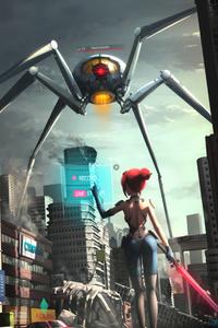 Gaint Ant Monster Warrior Girl