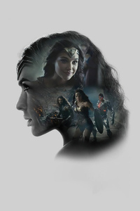 480x854 Gal Gadot As Wonder Woman Zack Synders Justice League Minimal