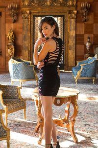 Gal Gadot In Black Dress Photoshoot