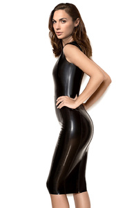 Gal Gadot In Black Latex Dress