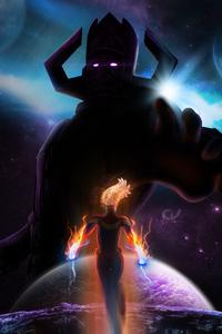Galactus Vs Captain Marvel
