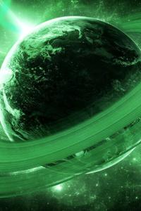 640x960 Galaxy Rings Planet 4k