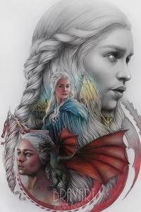 Game Of Thrones Emilia Clarke Artwork