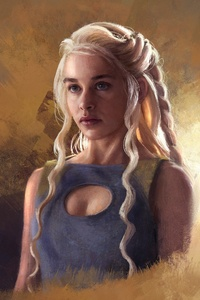 Game Of Thrones Daenerys Targaryen Painting Art