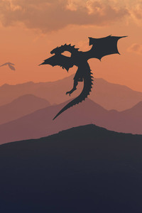 1080x1920 Game Of Thrones Dragon Minimalism