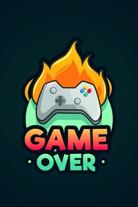 1440x2960 Game Over Minimalist