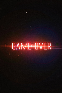 1080x2280 Game Over Typography 4k