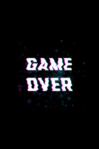 240x320 Game Over Typography 5k