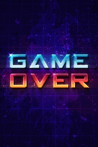 Game Over Typography Art 4k
