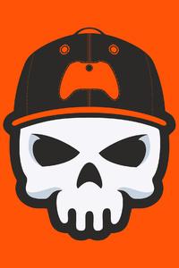 320x480 Gamer Skull Minimal 4k