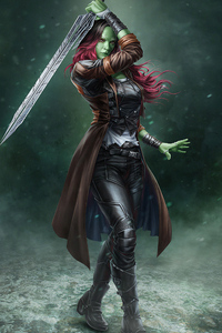 1080x2280 Gamora Artwork