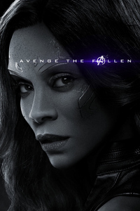 1080x2160 Gamora Avengers Endgame 2019 Poster