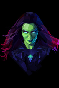 640x960 Gamora Digital Art