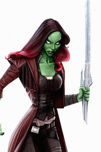 1080x2280 Gamora Digital Artwork