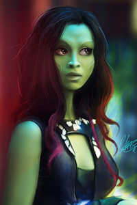 640x960 Gamora Fan Art