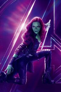 Gamora In Avengers Infinity War 8k Poster