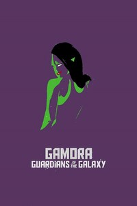 1125x2436 Gamora Simple Art