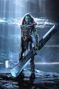 240x320 Gamora Wearing Thanos Armor 4k