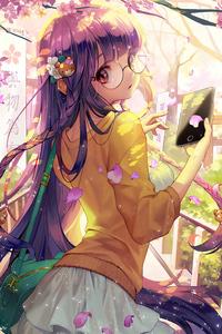 1280x2120 Gangroad Anime Girl On Phone 4k