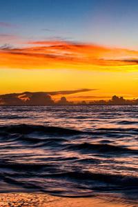 1080x2280 Garden City Beach Sunset 5k