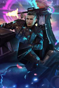 1125x2436 Garena Free Fire Cristiano Ronaldo 5k