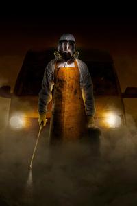 Gas Mask Man 4k