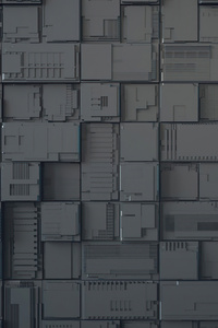 1080x2280 Geek Dark Cubes Abstract 4k