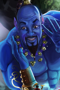 240x320 Genie In Aladdin Artwork