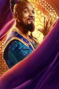 1080x2280 Genie In Aladdin Movie 2019