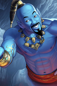 240x320 Genie Will Smith Art