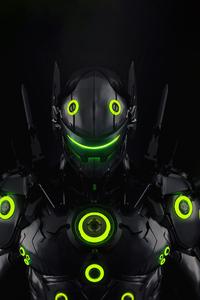 720x1280 Genji Overload Overwatch 5k