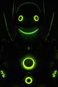 720x1280 Genji Overload Overwatch Dark 5k