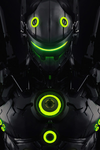 720x1280 Genji Overlord Fanart 4k