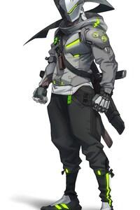 1080x1920 Genji Overwatch 2