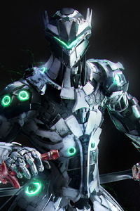 720x1280 Genji Overwatch Artwork