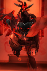 Genji Overwatch Blackwatch Art 5k