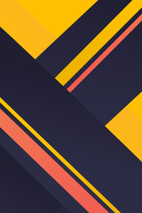 Geometric Material Yellow Blue Red 4k