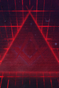 720x1280 Geometry Red Triangle 4k
