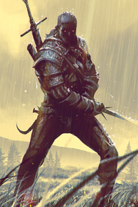 540x960 Geralt Of Rivia Art 4k